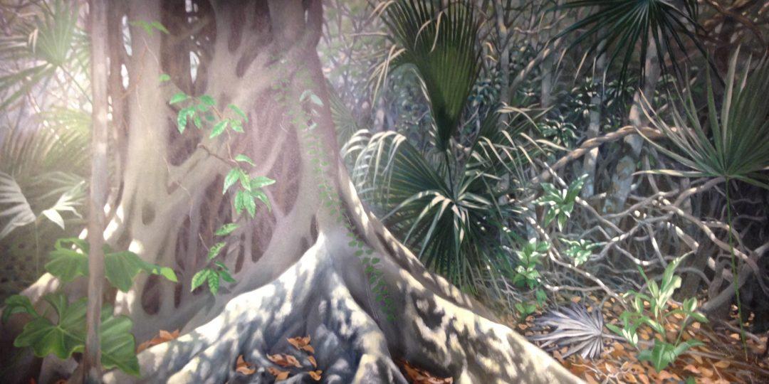 Yucatan puma diorama detail
